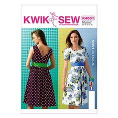 Buy Kwik Sew Women's Dresses Sewing Pattern, K4001 Online at johnlewis.com