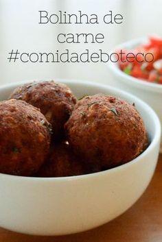 ad192a515cf Receita de Bolinha de carne moída com casquinha crocante - comida de boteco  Carne Moída Frita