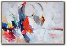 Horizontal Palette Knife Contemporary Art #L8C #acrylic-painting #Artists_Leo-Chun #Contemporary