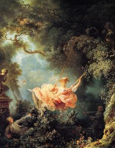"""The Swing"" Fragonard. 1767. love this painting. she's such a tease. rococo period is one of my faves."