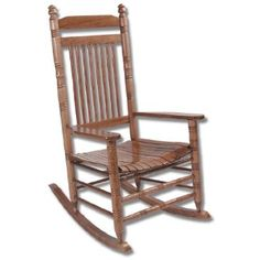 Fully Assembled Slat Rocking Chair   Hardwood