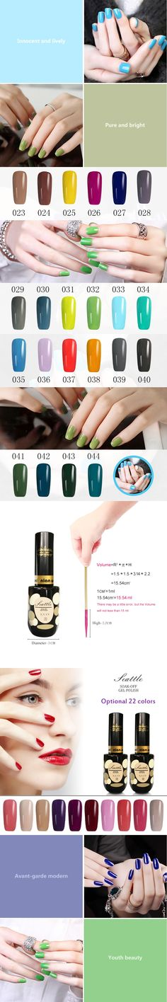 N.W MOKA Professional Organic UV  3D 023 to 044 Nail UV Gel Polish Hot Sale Choose 1 Nail Lacquer From 24 Colored Avaliable
