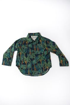 The Long Sleeve Hopper Shirt | Navy Palms https://18waits.com/collections/spring-summer-2017/products/hopper-hunter-long-sleeve-hopper-shirt-navy-palms