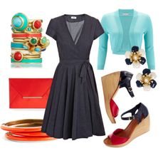 """A way to get orange into my wardrobe! """"Teacher Outfit"""" by tricia5677 on Polyvore"""
