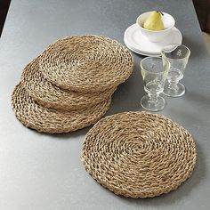 Elana Woven Chargers - Set of 4