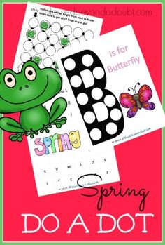 FREE adorable Spring Do a Dot! Perfect for homeschool and day cares!