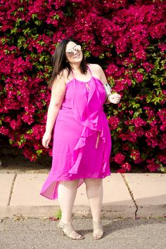 930b6ba010af plus size pink ruffle dress summer dress neon pink gold crystal coons  sometimes glam Pink Ruffle