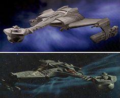 Klingon battle cruiser from the re-imagined Star Trek film. Great design.