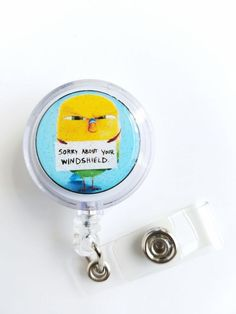 """THE SECRET LIFE OF PETS """"Sweet Pea"""" Retractable Badge,ID Holder, Glitter 3D Dome in Clothing, Shoes & Accessories, Unisex Clothing, Shoes & Accs, Unisex Accessories 