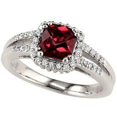 Bauman Massa diamond and garnet  Noe's Jewelry