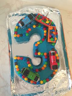 Number 3 cake #threecake #numberthreecake #3cake