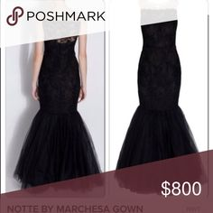NOTTE by MARCHESA GOWN New with tags. Lace with mermaid skirt Marchesa Dresses Maxi