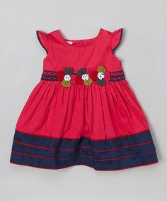 Love this Fuchsia Flower Angel-Sleeve Dress - Infant, Toddler & Girls on #zulily! #zulilyfinds