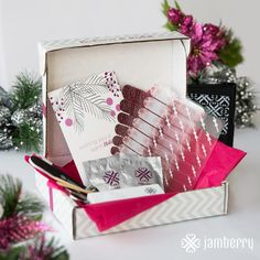 Holiday Gift Sets include 3 exclusive wraps with application kit available November 12th so stay tuned... Http://taneshagambling.jamberrynails.net/shop