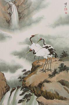 chinese brush painting | ... & Peacocks Gallery: Chinese Brush Painting - Virginia Lloyd-Davies