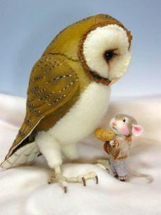 PDFKlasse Nadel Felted Tier gekleidet Maus & Bunny von barby303, $45.00
