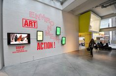 """Manuel Miranda and Ji Won Lee: Art, Environment, Action! A creative teaching laboratory and environmental """"artshop, wall display (see the Illustration above) and website (URL: http://www.sjdcparsons.org/aea/artists/), 2012. Sheila C. Johnson Design Center, Parsons The New School for Design, New York."""
