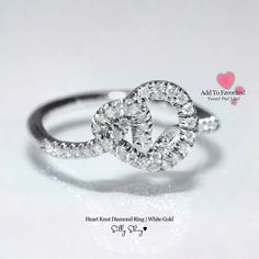 Heart+Knot+Diamond+Ring+14K++++by+SillyShiny+on+Etsy,+$699.00