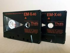 2 x That s EM-X 46 Type II Audio-Cassetten MC