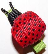 Ladybug bow clip