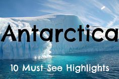 Bucket List - Things to do in Antarctica: http://www.ytravelblog.com/best-antarctica-10-highlights/