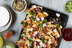 I love Nachos, but its always seemed like an unhealthy snack choice.  This recipe could produce a healthier version.
