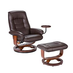 Holly & Martin Hemphill Leather Recliner and Ottoman CAFE BROWN Review https://interiorhomedesigns.info/holly-martin-hemphill-leather-recliner-and-ottoman-cafe-brown-review/ Brown Leather Recliner, Leather Ottoman, Leather Recliner Chair, Leather Sofas, Armchair With Ottoman, Black Ottoman, Black Footstool, Bay Hill, Recliner Chairs