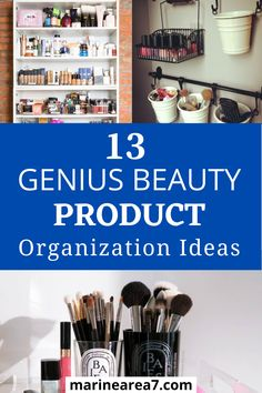 If you are looking for smart ways to organize makeup you will love these beauty product organization ideas. These storage tips can help you sort and display your favorite makeup the right way. Increase storage space just like that. #Makeup #Organizing