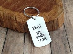Great Father's Day Gift - Funny Gift For Dad - Hand Stamped Keychain - Personalized Keychain - Best Farter - Gift for Him - Custom Keychain - pinned by pin4etsy.com