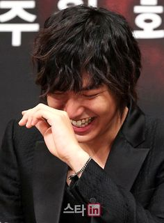Lee Min Ho-- I love when he laughs like a little boy