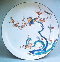 Kakiemon Porcelain Plate, Edo Period, Japan (history of Japanese ceramics, from a college art class).