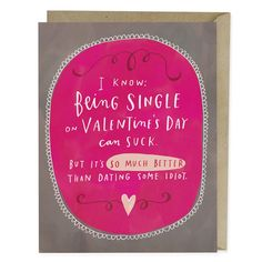 Dating Some Idiot Valentine Card | LOVE & VALENTINE'S DAY | Emily McDowell Studio