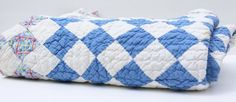 Vintage Handmade Patchwork Quilt Blue and by TheMixingBowlOnline, $55.00