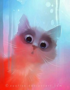 Lovely cats, digital illustrations by Rihards Donskis aka Apofis - Ego - AlterEgo I Love Cats, Crazy Cats, Cute Cats, Art And Illustration, Illustrations, Love Drawings, Cat Drawing, Drawing Eyes, Sketch Drawing