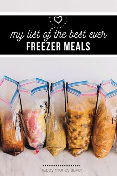 Freezer Friendly Meals, Slow Cooker Freezer Meals, Make Ahead Freezer Meals, Crock Pot Freezer, Freezer Cooking, Frugal Meals, Cheap Meals, Easy Meals, Raw Food Recipes