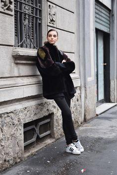 STREETSTYLE MFW FEB 16 ALESSIA VACCARI