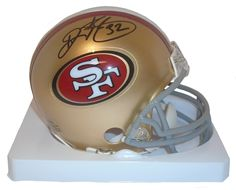 Ricky Watters Autographed SF 49ers Riddell Mini Football Helmet, Proof. This is a brand-new Ricky Watters signed San Francisco 49ersRiddell mini football helmet. Ricky signed the helmetin black sharpie.Check out the photo of Ricky Watters signing for us. ** Proof photo is included for free with purchase. Please click on images to enlarge. Please browse our websitefor additional NFL & NCAA footballautographed collectibles.2   Notable Career Accomplishments:  Super Bowl XXIX Champions…