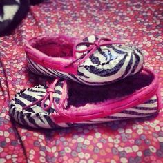 Zebra Print Moccasins. I've wanted moccasins forever and these are perfect!!!!!