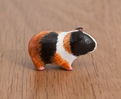 polymer clay animals | Guinea pig pet animal totem, polymer clay by lifedancecreations
