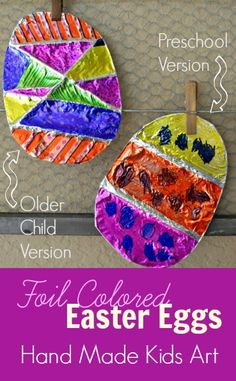 Easy Easter craft: 1project modified for different ages from Hand Made Kids Art