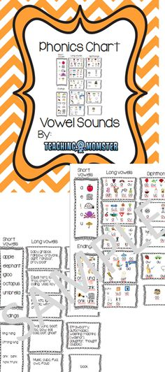 This chart has vowel sounds grouped into like groups (short vowel, long vowel, diphthong, etc.) with pictures of each sound group. You can use this in your students' reading folders, enlarge it to use as a classroom poster, or even tape one to each student's desk.