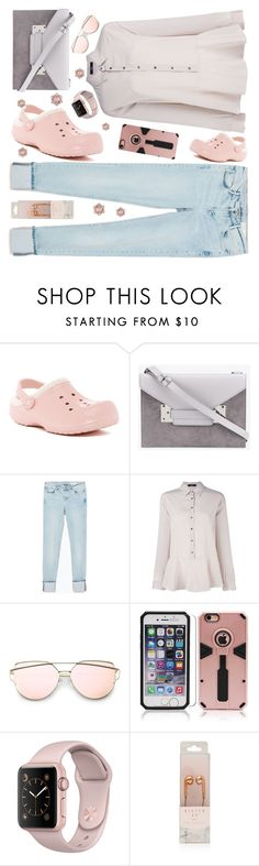 """""""Casual:  Pastel"""" by petalp ❤ liked on Polyvore featuring Crocs, Sophie Hulme, Zara, Steffen Schraut and jeans"""
