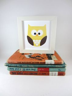 Owl Wall Art Animal Owl Print Home Decor Nursery by craftedbylindy, $6.00