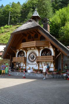 Schwarzwald, Baden-Wurtlemberg, DE.  This is supposed to be the world's largest Cuckoo clock- the works are made of wood