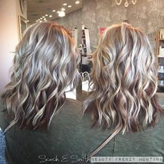 Call and schedule an appointment with Sarah Smith today! Hair Highlights And Lowlights, Highlight And Lowlights, Heavy Blonde Highlights, Fall Highlights, Brown Blonde Hair, Blonde Fall Hair Color, Brunette Hair, Hair Colour, Low Lights Hair