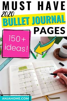 Here's a list of over 150 bullet journal creative pages #anjahome #bulletjournal monthly bullet journal page ideas and inspiration Bullet Journal Must Haves, Bullet Journal For Beginners, Bullet Journal Cover Page, Bullet Journal Printables, Bullet Journal Notebook, Bullet Journal How To Start A, Bullet Journal Ideas Pages, Bullet Journal Layout, Bullet Journal Inspiration