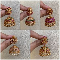 Ultimate 35 Gold Necklace Designs Images Of This Year Gold Jhumka Earrings, Gold Bridal Earrings, Jewelry Design Earrings, Gold Earrings Designs, Necklace Designs, Jhumka Designs, Indian Jewelry Earrings, Indian Jewelry Sets, Gold Designs