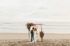 Tropical Wedding in Las Tunas, Ecuador with Beach Ceremony, Pampas Grass and Colourful Bridesmaid Dresses by Michelle Agurto