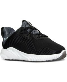 He can add some bounce to his step with the adidas Toddler Boys' Alpha Bounce Running Sneakers. Featuring plush bounce cushioning and sleek performance design, these running sneakers are sure to becom