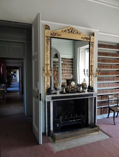 Orangeaurochs (2013) - Library @ Wimpole Hall, Cambridgeshire. Fireplace designed by Sir John Soane.